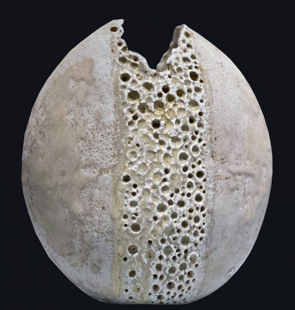 Alan Wallwork - Stoneware split form oval vessel