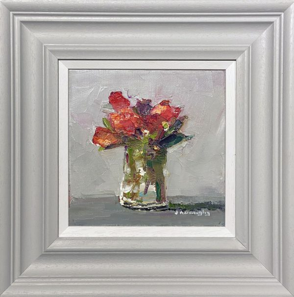 Judith Donaghy Mums Flowers Original Painting