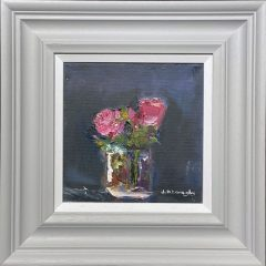 Judith Donaghy Pink Roses Original Painting