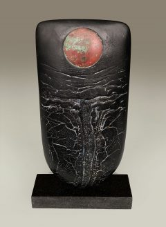 Peter Hayes - Black Raku Bow with Disc