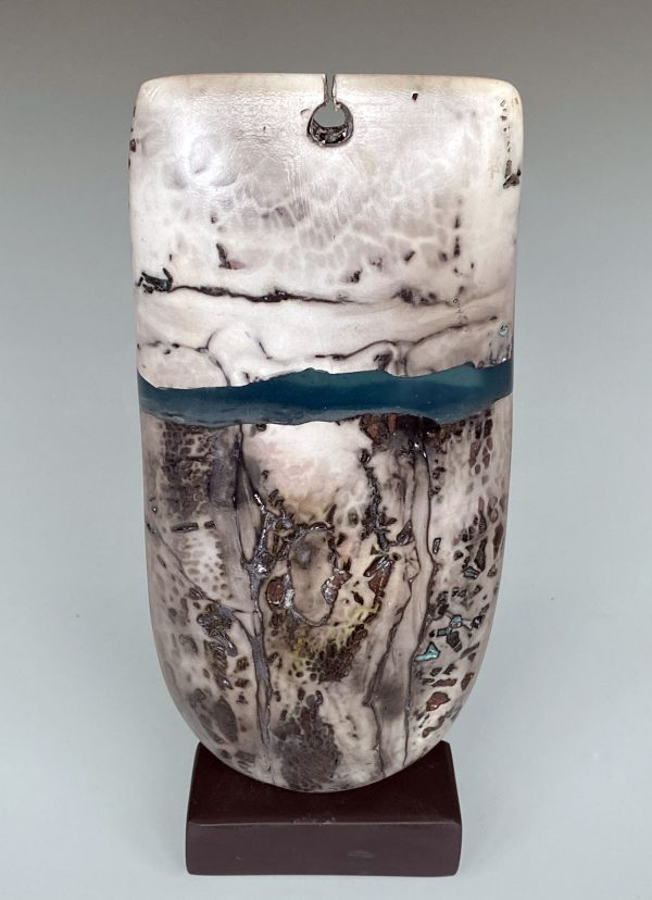 Peter Hayes - Raku Bow with Keyhole