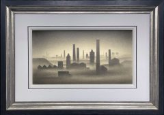 Trevor Grimshaw Northern Cityscape with Chimneys Original Drawing for Sale
