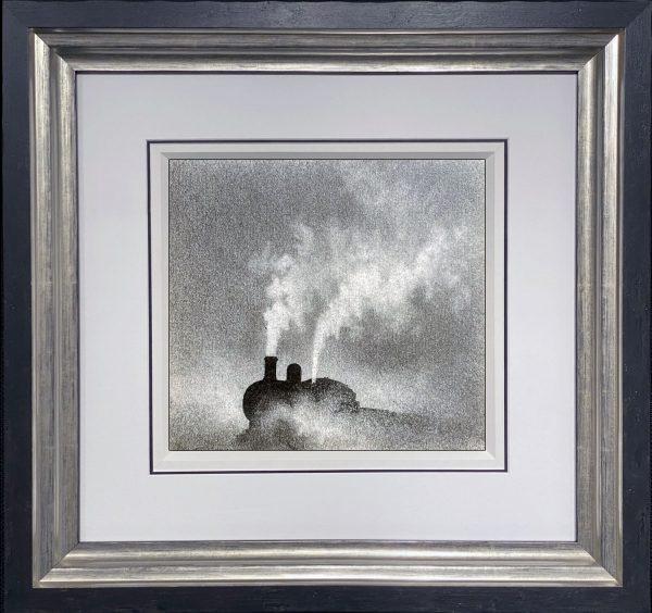 Trevor Grimshaw Steam Train Original Drawing for Sale