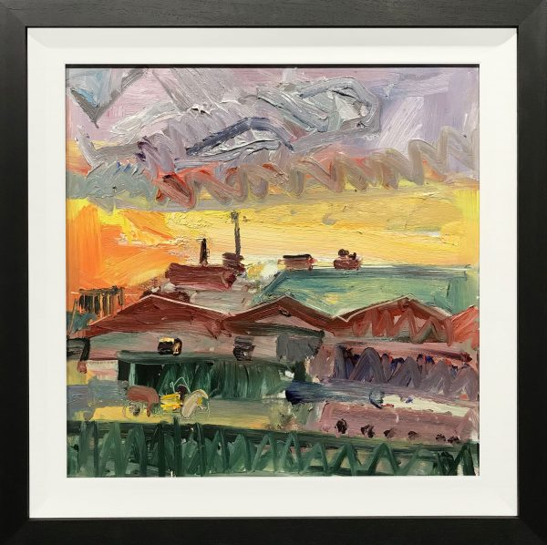 Richard Fitton View from Studio Original Painting for Sale
