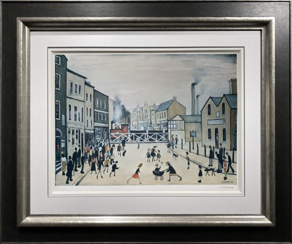 L S Lowry – Level crossing, Burton-on-Trent – Signed Limited Edition Print