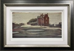 L S Lowry – Lonely House – Signed Limited Edition Print