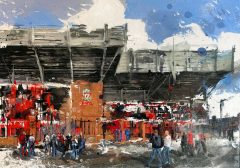 Ben Ark - The Kop Original Mixed Media Artwork