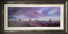 Danny Abrahams Original Painting Purple Skies over Manchester