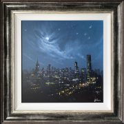 Danny Abrahams Original Painting The Lights of Manchester
