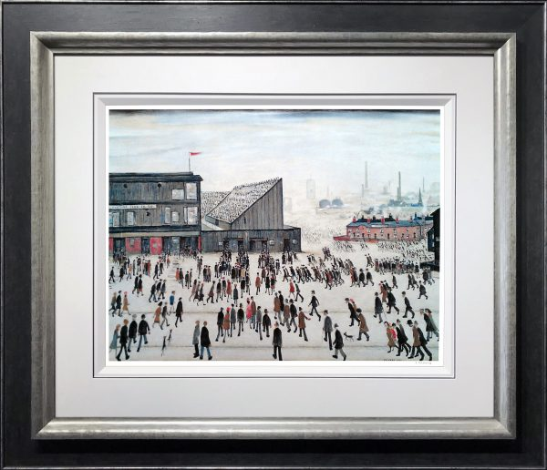 L S Lowry Going to the Match Signed Limited Edition Print