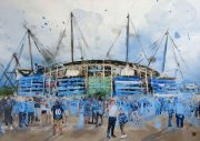 Ben Ark - Cradled in blue shadows at the Etihad