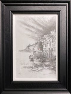 Bob Barker Original Drawing for sale Romantic Holiday Stroll