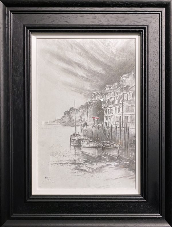Bob Barker Original Drawing for sale Romantic Holiday Stroll