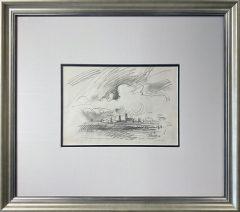Trevor Grimshaw Townscape Sketch Original Drawing for Sale