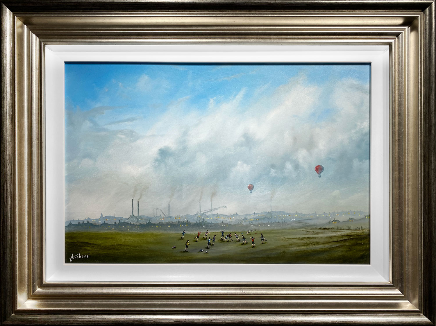 Danny Abrahams Original Painting Against the Run of Play