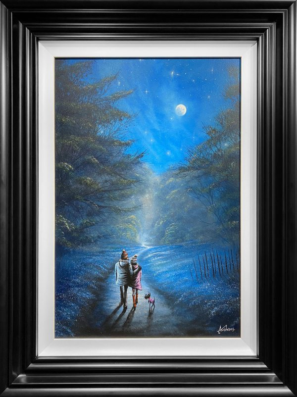 Danny Abrahams Original Painting Fancy a Moonlit Stroll