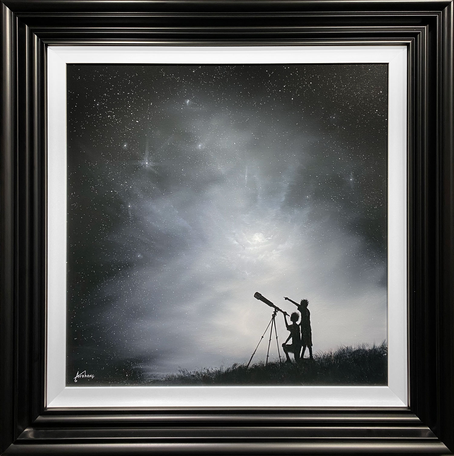 Danny Abrahams Original Painting Follow Your Own Star