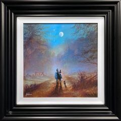 Danny Abrahams Original Painting Romantic Moonlit Walk