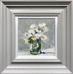 Judith Donaghy White Flowers Original Painting