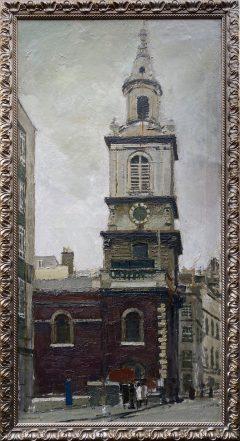 Ken Howard - St Botolph, Bishopsgate Original Painting