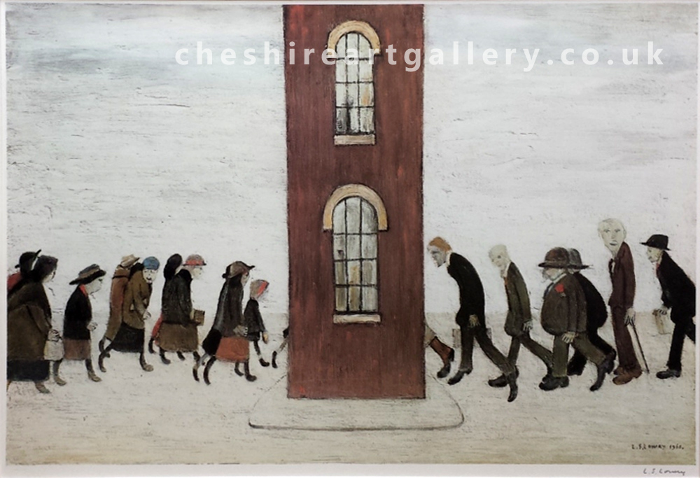 L S Lowry - Meeting Point - Signed Limited Edition Print